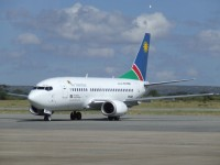My Air Namibia flight arriving from Cape Town