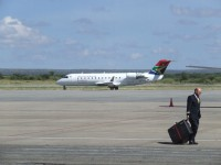 South African Airways arriving from Johannesburg